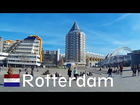 HOLLAND: To Rotterdam city by train ([HD]