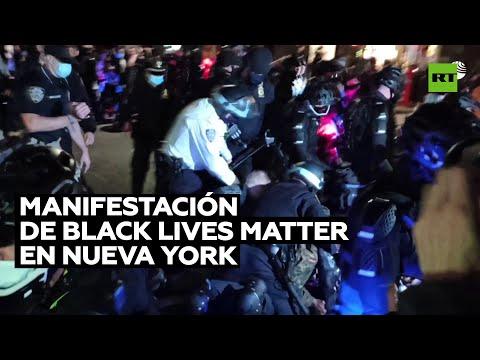 Enfrentamientos y detenciones por una marcha de Black Lives Matter en Nueva York
