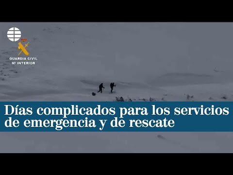 Días complicados para los servicios de emergencia y de rescate