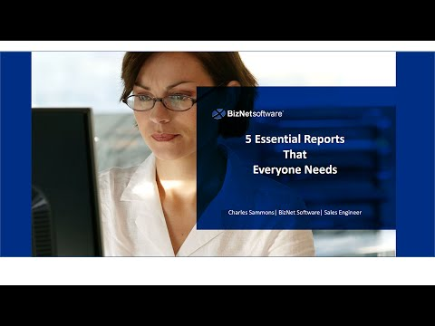 BizNet Webinar 5 Essential Excel Reports That Everyone Needs