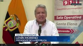 Moreno declara estado de excepción por amenaza de nueva cepa de coronavirus