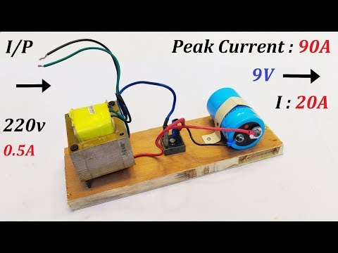 9V 20A DC from 220V AC for High Current DC Motor 1000W - Amazing Idea