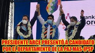 PRESIDENTE LUIS ARCE VAMOS ACOMPAÑAR LA GESTIÓN DE SACARIAS MAQUERA COMO ALCALDE DEL ALTO