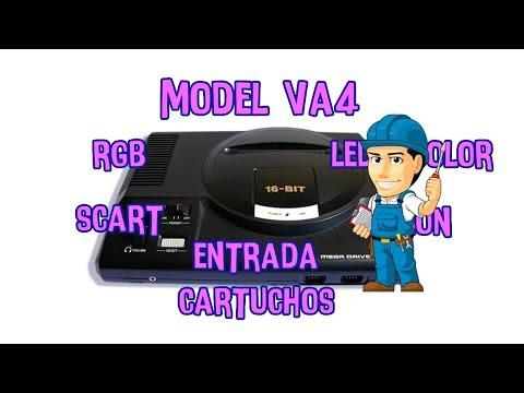 MOD MEGADRIVE VA4 MODEL: CARTUCHOS JAP + RGB + REGION + LED + SCART + 60Hz