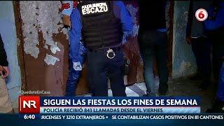 Policía reporta 843 llamadas por fiestas durante el fin de semana