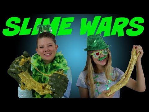 connectYoutube - SLIME WARS || BOX OF LIES || ST PATRICK'S DAY || Taylor and Vanessa
