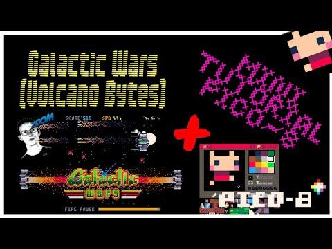Pico 8: Galactic Wars (Volcano Bytes) + Mini Tutorial Pico-8