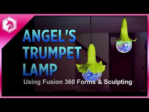 LEARN: Angel's Trumpet Lamp in Fusion360 - Forms and Sculpting @adafruit #adafruit