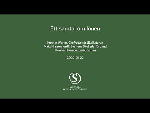 Ett samtal om lönen - 2020 - Sveriges Skolledarförbund