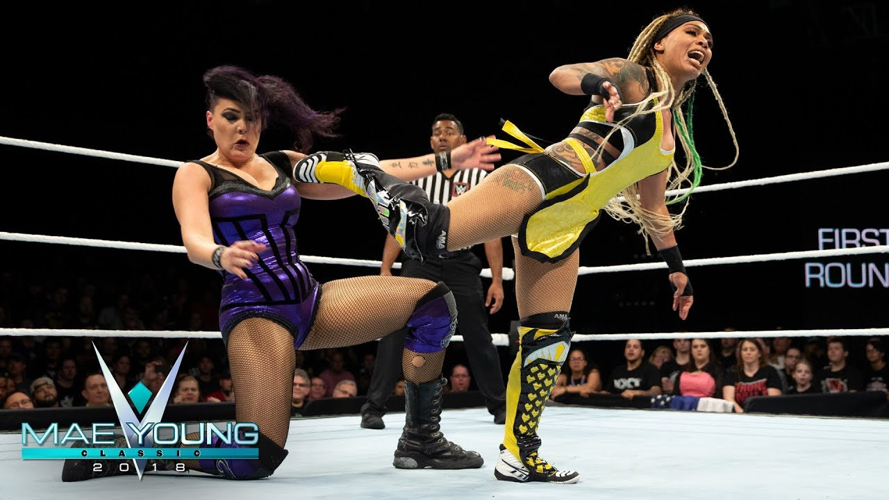 raw star pulled from wwe evolution women's battle royal, myc