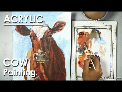 Acrylic Painting : Cow