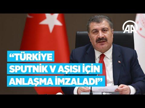 Bakan Koca: Türkiye, Sputnik V aşısından 6 ay içinde 50 milyon doz almak için anlaşma imzaladı