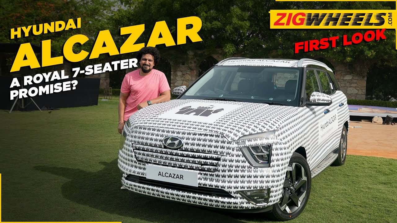 what exactly IS the ಹುಂಡೈ alcazar? | hands on ಪ್ರಥಮ look | zigwheels.com
