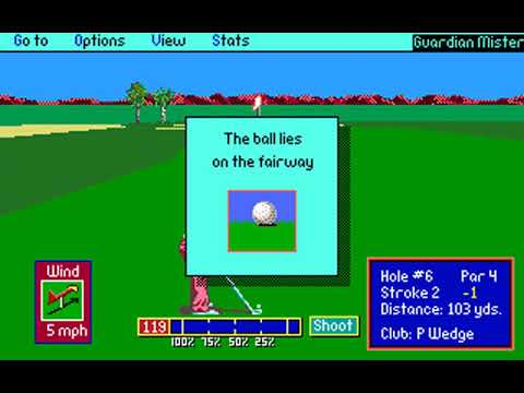 PGA Tour Golf (Phoenix Open at TPC Scottsdale) (Sterling Silver) (MS-DOS) [1991] [PC Longplay]
