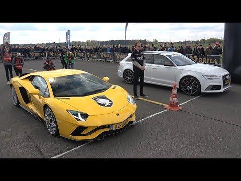 Lamborghini Aventador S vs Audi RS6 Avant – DRAG RACE!