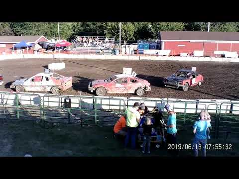 Manchester Community Fair 2019 Figure Eight Heat 2 (FWD cars) (July 13,2019) Manchester,Michigan