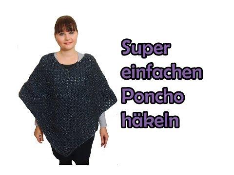 Einfachen Poncho Häkeln Anleitung Tomclip