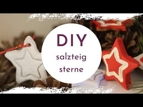DIY Salzteig Sterne als Deko - für den Weihnachtsbaum oder Geschenksanhänger