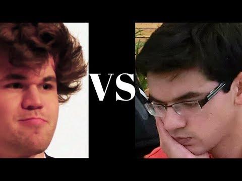 Tata Steel 2018 tiebreak blitz chess game: Magnus Carlsen vs Anish Giri - Game 1 of 2
