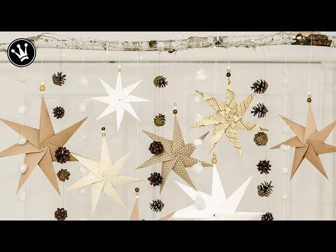 DIY - Weihnachtsdeko selber machen | Origami Stern Faltanleitung | Fensterdeko Weihnachten | How to
