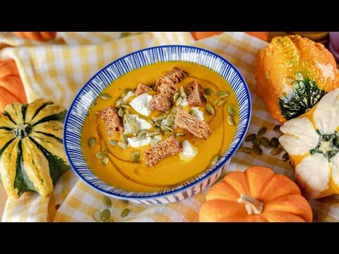 СУП ПЮРЕ из ТЫКВЫ | простой рецепт | очень вкусный тыквенный суп + веганский вариант | Pumpkin Soup