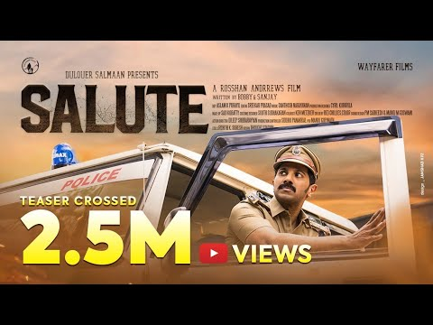 Salute Movie Teaser | Dulquer Salmaan | Rosshan Andrrews | Bobby & Sanjay