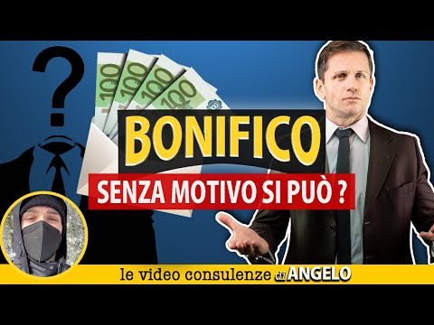 BONIFICO SENZA MOTIVAZIONE: è permesso? | Avv. Angelo Greco