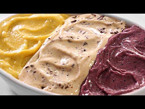 Haz Helado en 1 Minuto | Stracciatella - Arándanos - Mango