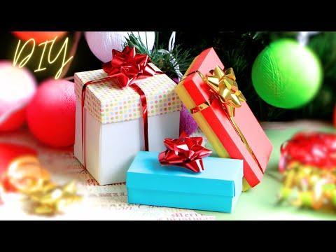 How to make a paper gift box / Как сделать коробочку для подарка / DIY NataliDoma