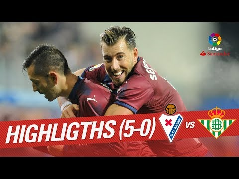 Resumen de SD Eibar vs Real Betis (5-0)
