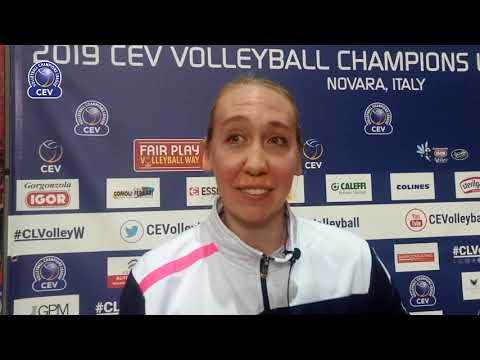 Michelle Bartsch react after Igor Gorgonzola NOVARA qualifies to #CLVolleyW Semi-Finals