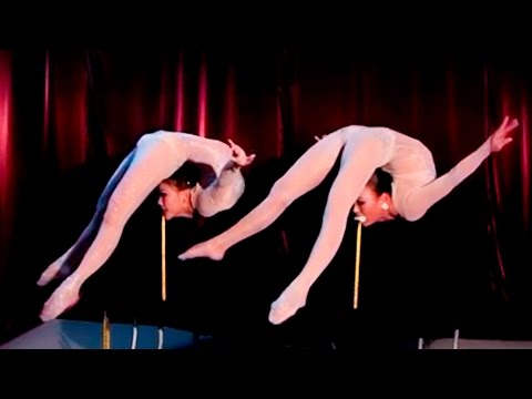 Extremely Talented  Acrobatic Girls  Present  Awesome  Flexibility  And  Folds