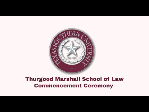 Winter 2020 Commencement -  Thurgood Marshall School Of Law