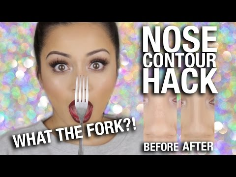 "WHAT THE FORK""! Nose Contour HACK!!"