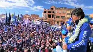 Evo Morales en masiva concentración en la ciudad de El Alto de La Paz Proclama de candidatos Bolivia
