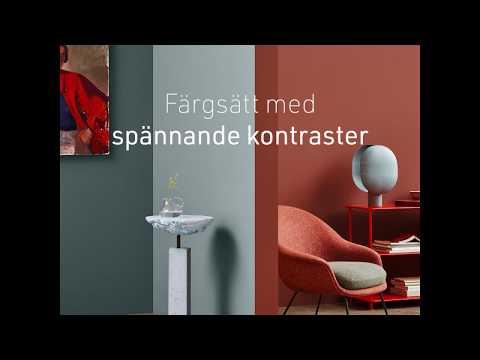 Måla om möbler - experimentera med komplementfärger