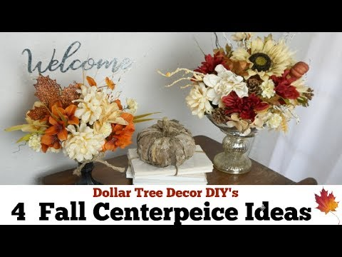 Dollar Tree Fall DIY Decor Ideas | Fall Centerpiece | Momma From Scratch