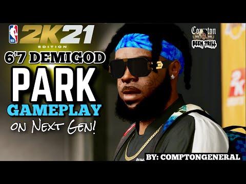 6'7 DEMI GOD PARK GAMEPLAY 🔥 IM STILL THE GOAT IN THE PLAYGROUND💯🐐   NBA 2K21 NEXT GEN