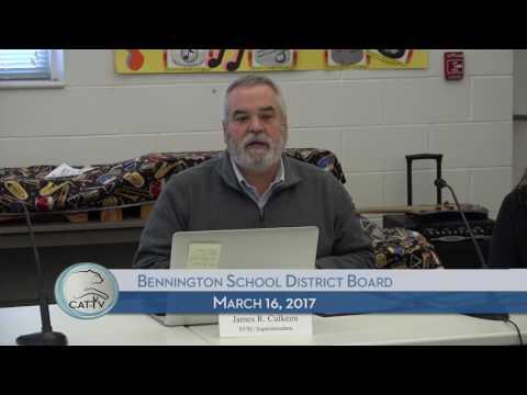 Bennington School District Board - 3/16/17