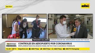 Controles en aeropuerto por coronavirus