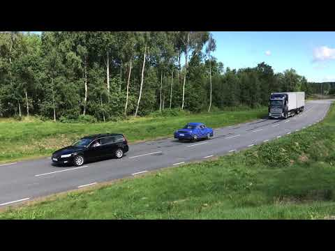 Volvo Trucks - Demonstration of Collision Warning with Emergency Brake