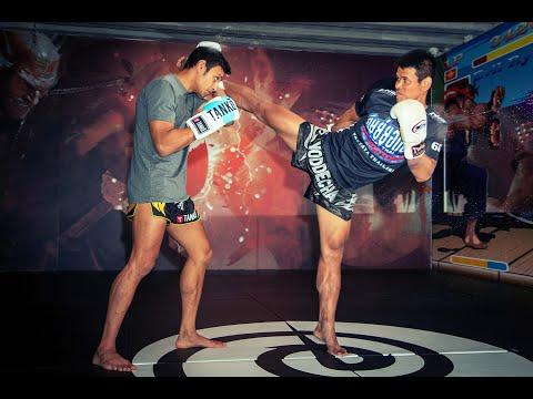 Muay Thai Head Kicks - How to set up a Left Head Kick KO with Yoddecha Sityodtong