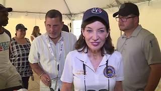 Vicegobernadora de Nueva York visita zonas afectadas por terremotos en la isla