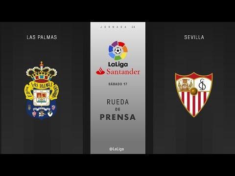 Rueda de prensa Las Palmas vs Sevilla