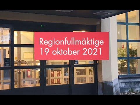 Sammanfattning: Regionfullmäktige 19 oktober 2021