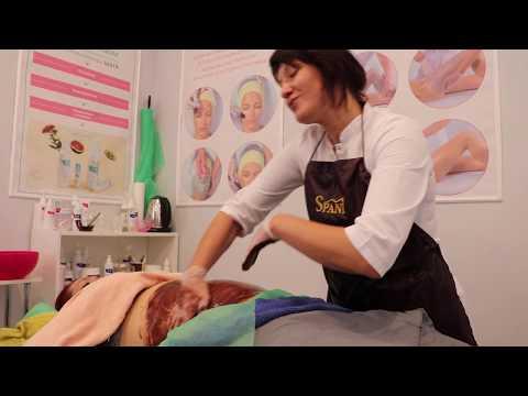 Шоколадное обертывание.Красивый шоколадный массаж живота  Spani. Beautiful Chocolate Belly Massage photo