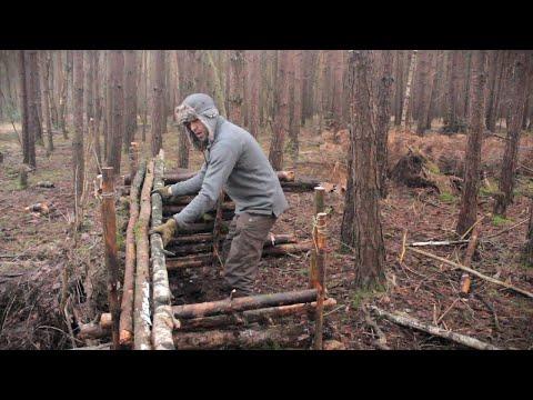 5 Bushcraft Shelters - Full Camp Builds Start to Finish