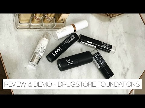 DRUGSTORE Foundation Sticks | Hits & Misses - Demo + Mini Reviews