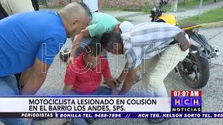 Motociclista lesionado tras colisión con camioncito en #SPS