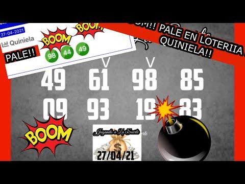 BOOM!! BOOM!! PALE 98 y 49 EN LA LOTERIA LA PRIMERA!!
